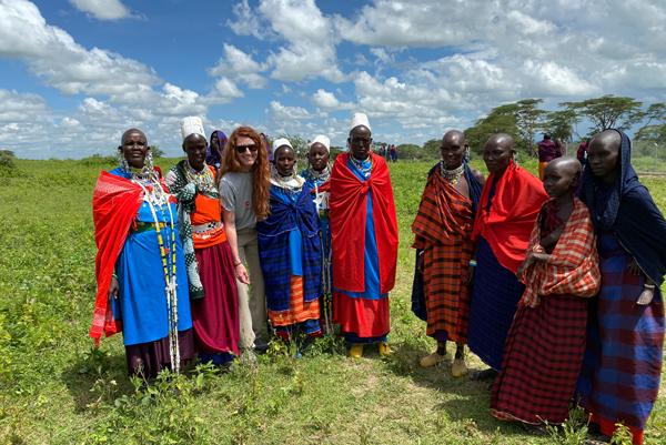 Chelsie in Tanzania