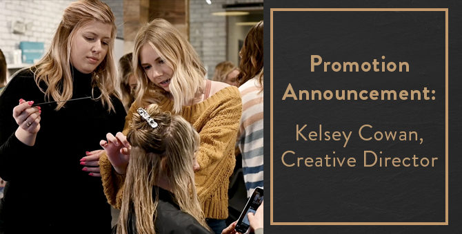 Promotion Annoucement: Kelsey Cowan, Creative Director